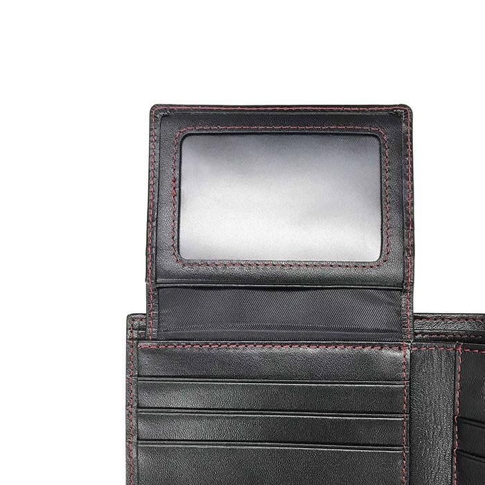 二つ折り財布 本革 メンズ ビジネス ブラック 黒 リアルカーボン 財布 小銭入れ 大人 男性 リアルレザー GT-MOBILE airs 03