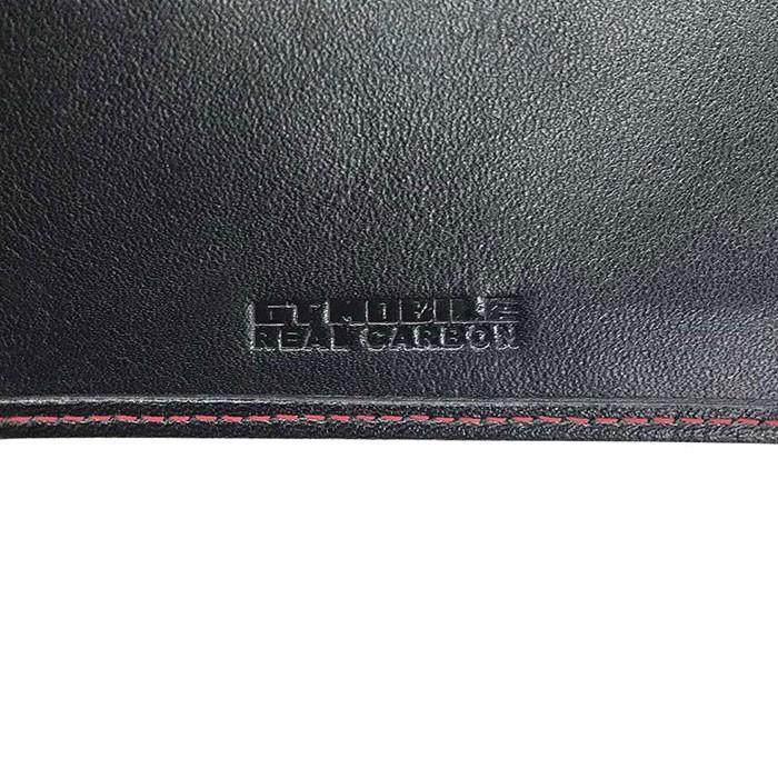 二つ折り財布 本革 メンズ ビジネス ブラック 黒 リアルカーボン 財布 小銭入れ 大人 男性 リアルレザー GT-MOBILE airs 04
