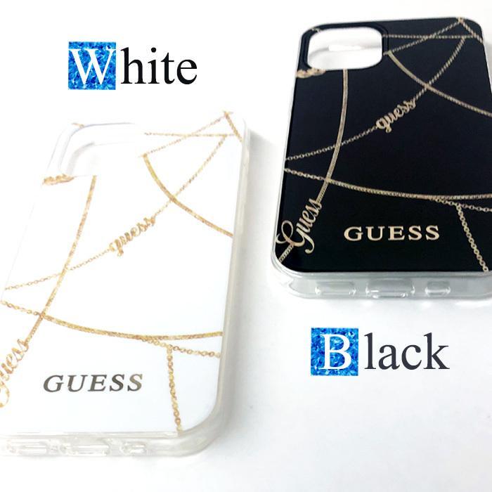 GUESS・公式ライセンス品 iPhone12mini iPhone12 iPhone12Pro 背面ケース バックカバー スマホケース ブラック ホワイト ブランド 送料無料|airs|07