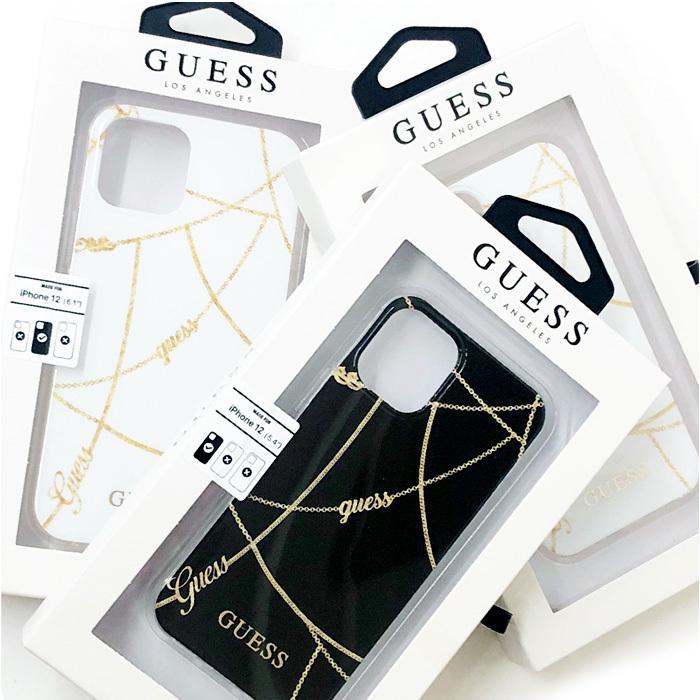 GUESS・公式ライセンス品 iPhone12mini iPhone12 iPhone12Pro 背面ケース バックカバー スマホケース ブラック ホワイト ブランド 送料無料|airs|08