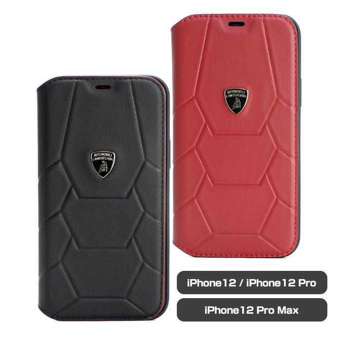 ランボルギーニ・公式ライセンス品 iPhone12 iPhone12Pro iPhone12ProMax 本革 手帳型ケース レザー  ビジネス スマホケース ブックタイプ 【送料無料】|airs