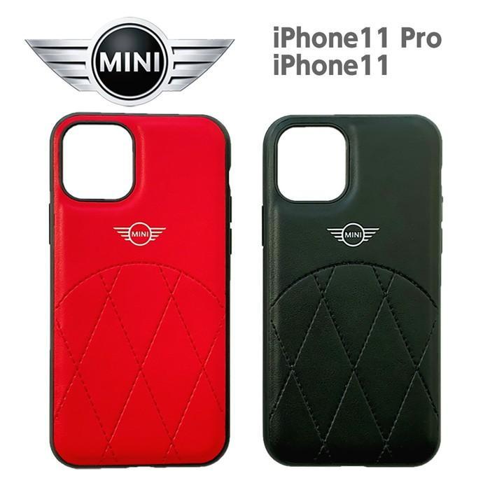 MINIミニ  公式ライセンス品 iPhone11Pro iPhone11 PUレザー 背面ケース バックケース ブランド airs