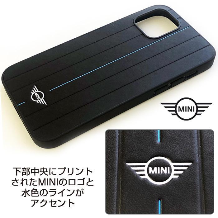 MINI(ミニ)・公式ライセンス品 iPhone12mini iPhone12 iPhone12Pro 5.4 6.1 inch 背面ケース PUレザー ハードケース  【送料無料】|airs|05