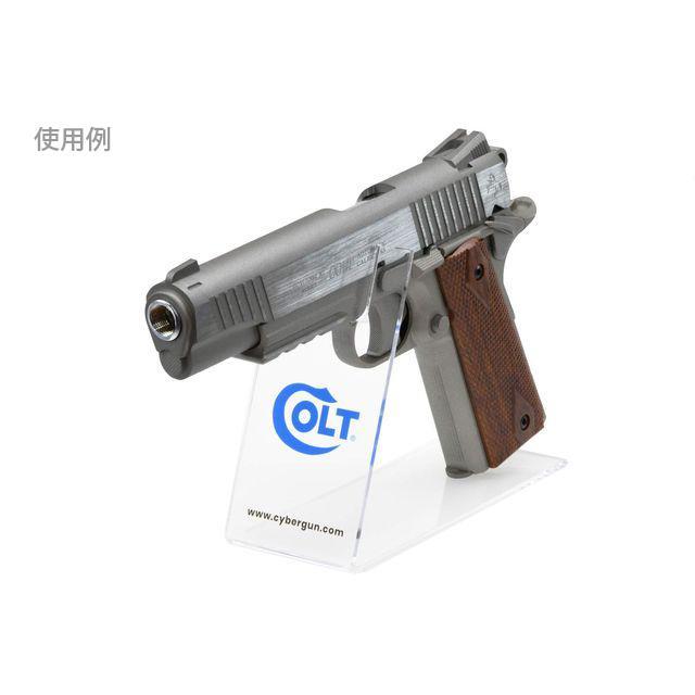 ハンドガンディスプレイスタンド/クリアー (COLT)  CyberGun製 airsoftclub 02