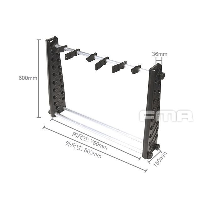G Accessories Rack/ポータブルガンラック 30in (Adjustable version)  FMA製|airsoftclub|05