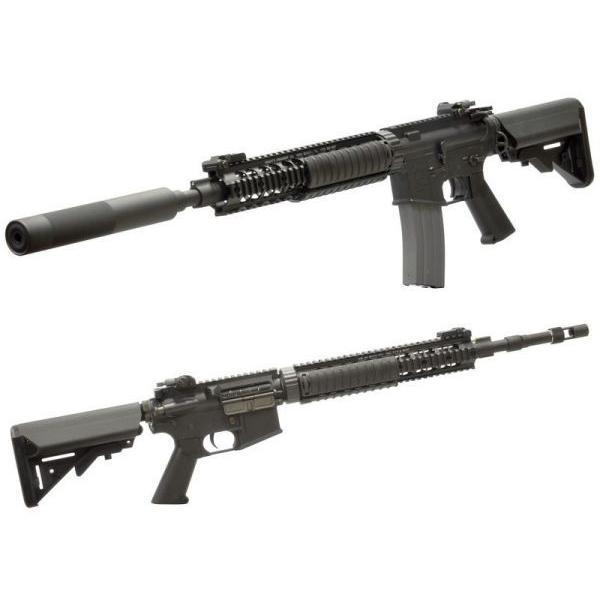 Colt Mk12Mod1(LMTストック OPSサプレッサー付) DX 電動ガン    VFC製|airsoftclub|02