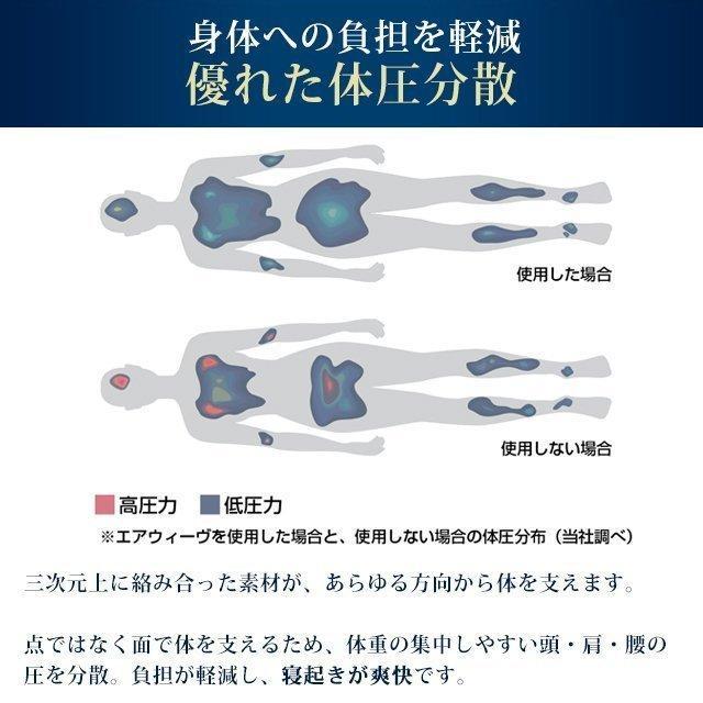 マットレス シングル  三つ折り 折りたたみ 高反発 洗える エアウィーヴ スマート Z01|airweave|10