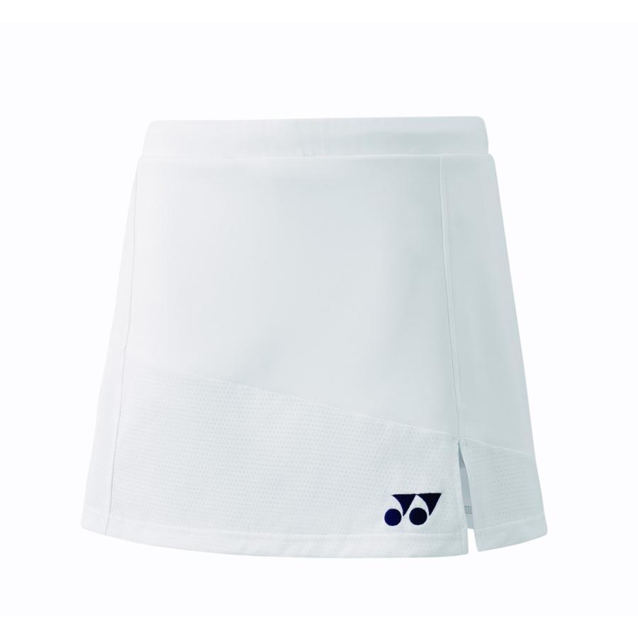 ヨネックス YONEX 26055 ウィメンズスカート テニス・バドミントン ウェア(レディース) ホワイト