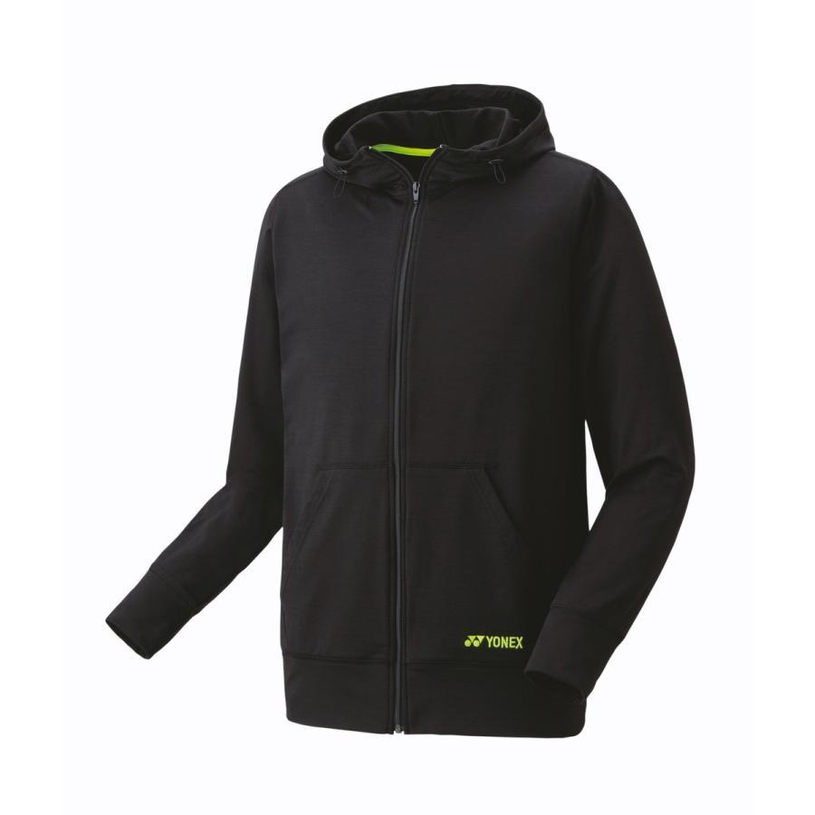 ヨネックス YONEX 30045 ユニスウェットパーカー テニス・バドミントン ウェア(ユニ) ブラック/ブラック
