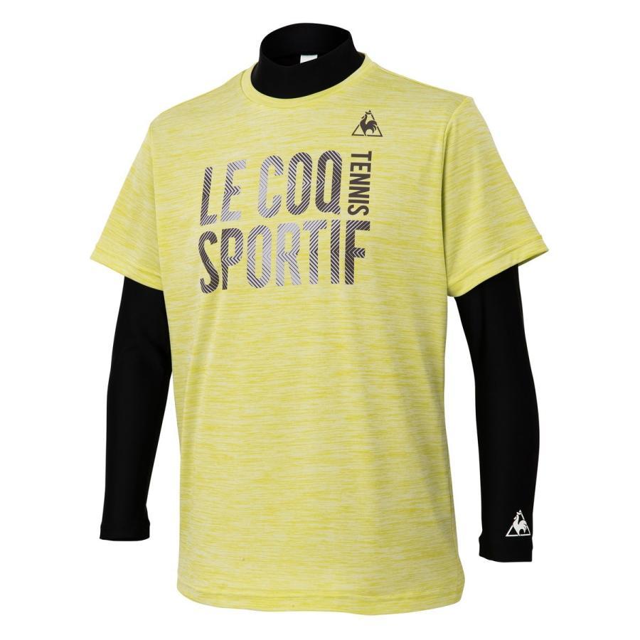 ルコック le coq sportif QTMOJA14CP インナー付きシャツ テニス ウェア(メンズ) グリーンイエロー