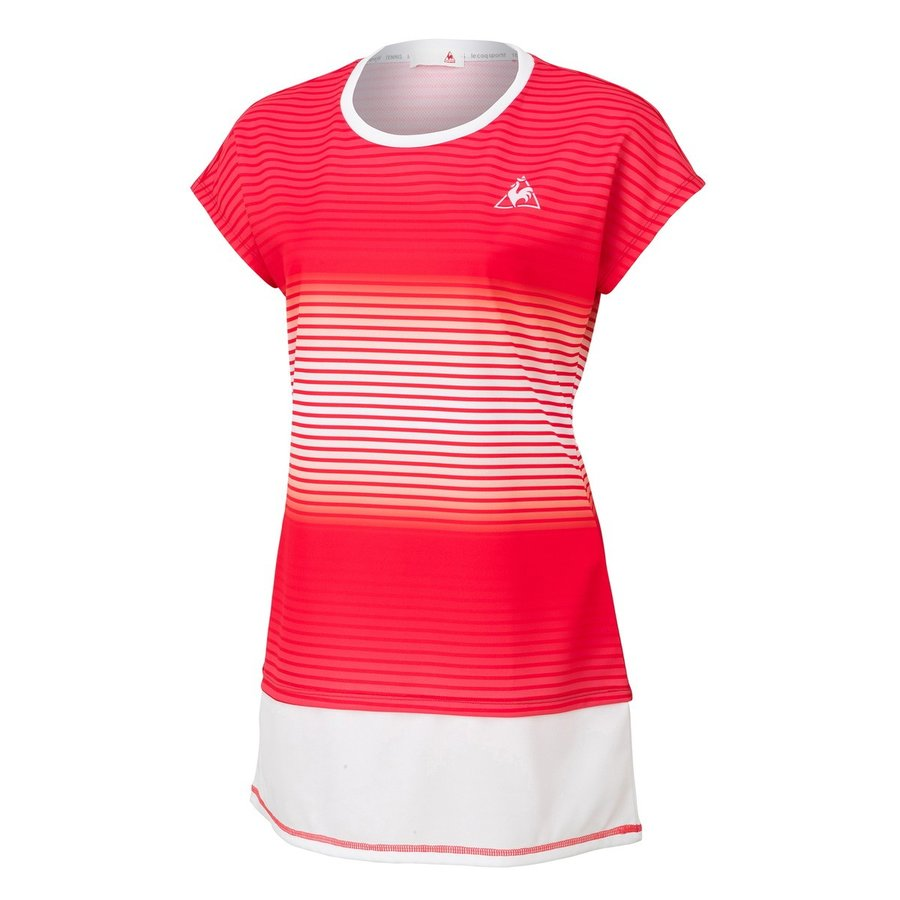 ルコック le coq sportif QTWOJJ16 チュニックシャツ テニス ウェア(レディース) スカーレット
