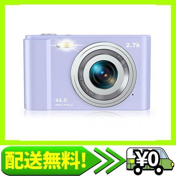 Rosdeca デジタルカメラ デジカメ コンパクト HDカメラ 2.7K 44MP 16倍ズーム 連写機能 軽量 携帯・・・|aito-create