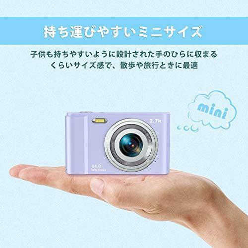 Rosdeca デジタルカメラ デジカメ コンパクト HDカメラ 2.7K 44MP 16倍ズーム 連写機能 軽量 携帯・・・|aito-create|04
