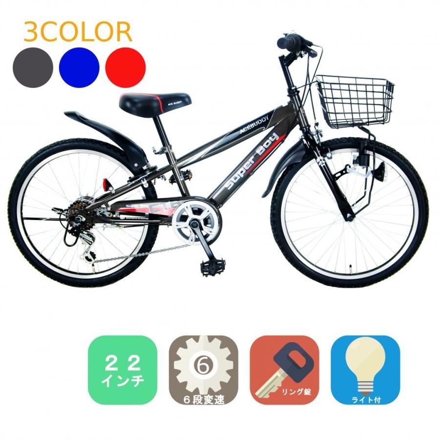 子ども用 自転車 6段変速機搭載 ACE BUDDY CTB226