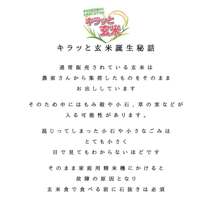 ひとめぼれ お米 調整済玄米 キラッと玄米30kg  令和元年産 福島県産 送料無料 あすつく|aizu-crops|05