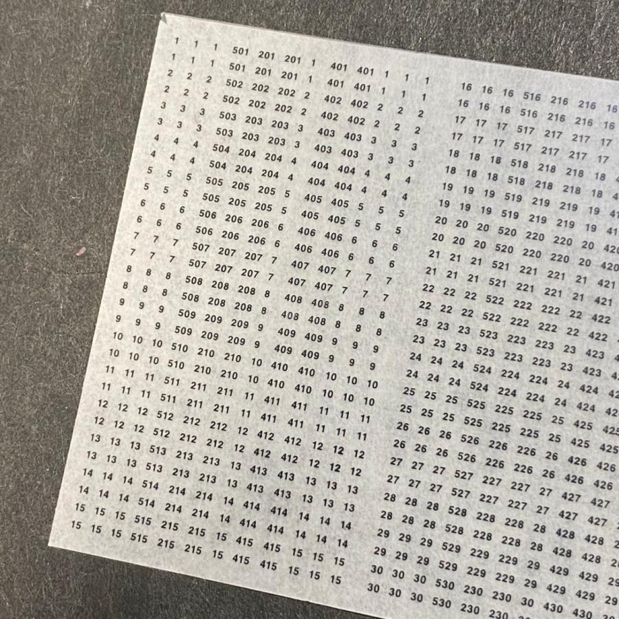 汎用数字インレタ(0番台1・950番台)(TypeC) ajisaitei 02