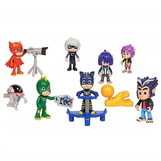 しゅつどう!パジャマスク デラックスフィギュア 14ピースセット PJ Masks Deluxe 14Piece Figure Set フィギュア/クリスマス/プレゼント