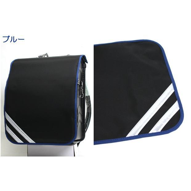 ランドセルカバー 男の子 反射テープ付き 日本製 おしゃれ 丈夫 かっこいい 黒無地×コンビカラー Lサイズ|akagi-aaa|09