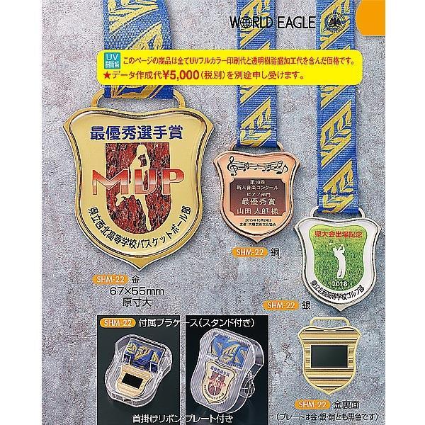 オリジナルメダル,SHM22 特注UVフルカラー&透明樹脂盛加工レリーフ 67x55mm