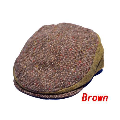NEWYORK HAT #9259 TWEED/LEATHER COMBO 1900|akamonbrother-rsgear|02