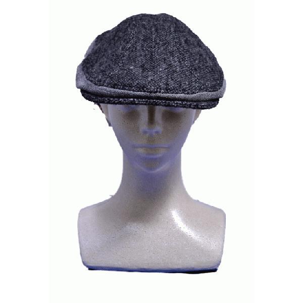 NEWYORK HAT #9259 TWEED/LEATHER COMBO 1900|akamonbrother-rsgear|03