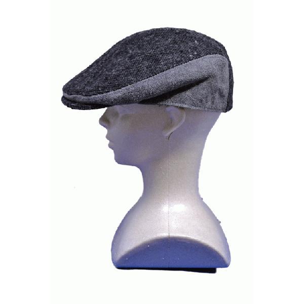 NEWYORK HAT #9259 TWEED/LEATHER COMBO 1900|akamonbrother-rsgear|04