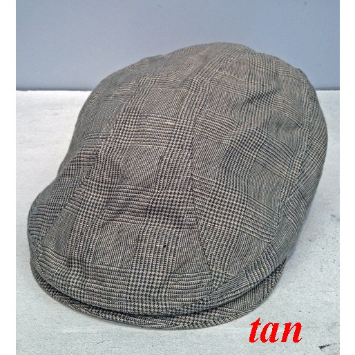 New York Hat #6240 PLAID LINEN 1900|akamonbrother-rsgear|02