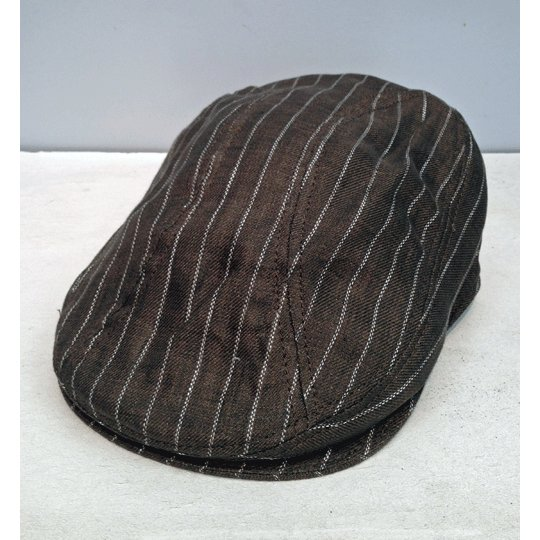 New York Hat #6266 STRIPED LINEN 1900|akamonbrother-rsgear|02