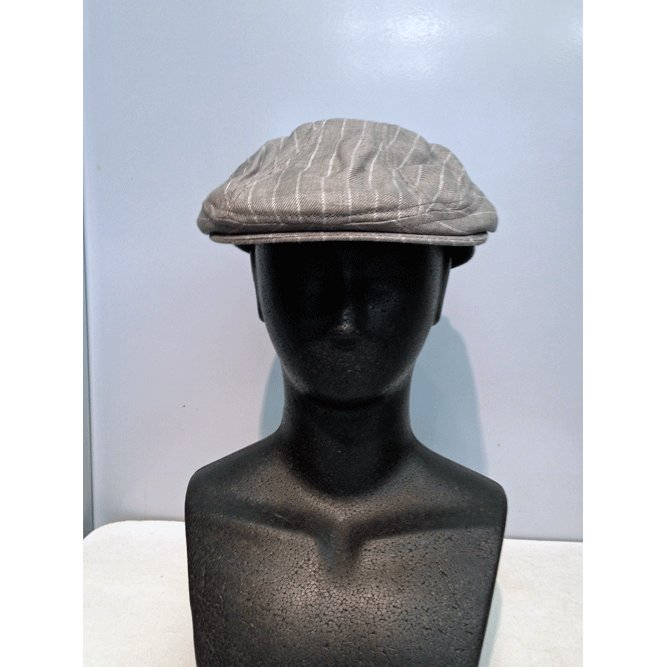 New York Hat #6266 STRIPED LINEN 1900|akamonbrother-rsgear|03