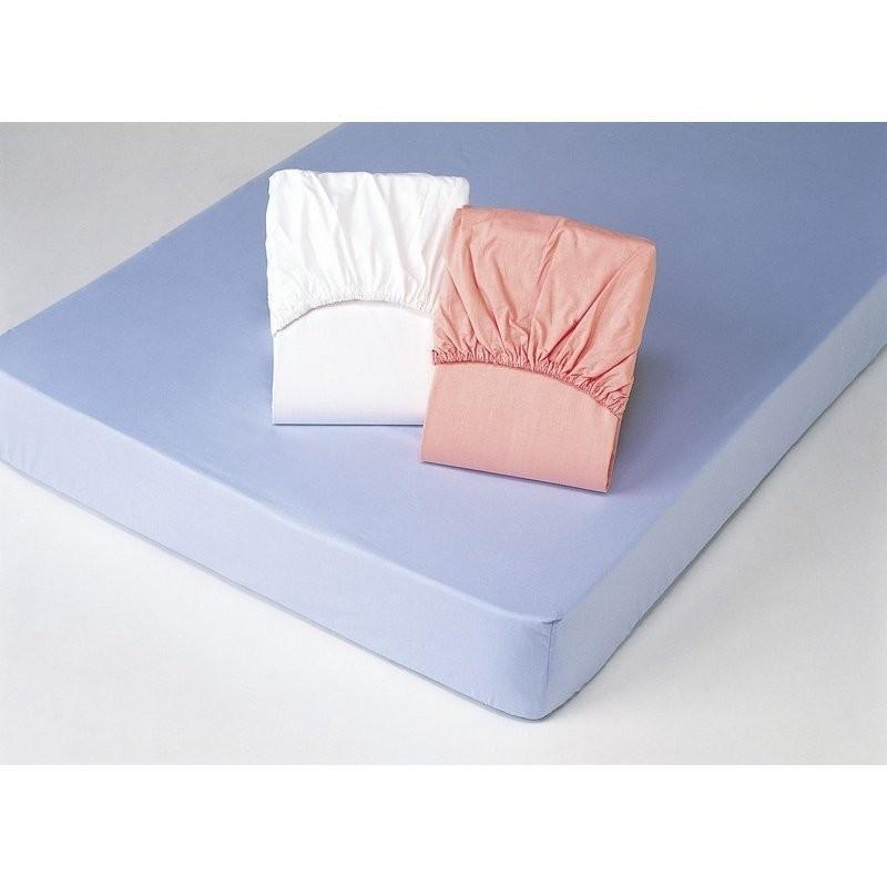 綿100%平織ボックスシーツ同色2枚組 キングブルー/ホワイト 5910510  【送料無料】