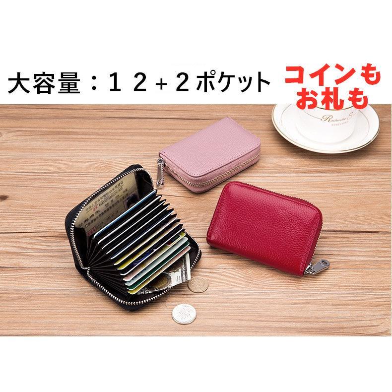カードケース じゃばら 本革 メンズ レディース 大容量 カード入れ スキミング防止 定期入れ アウトレット 蛇腹 akane-store 05