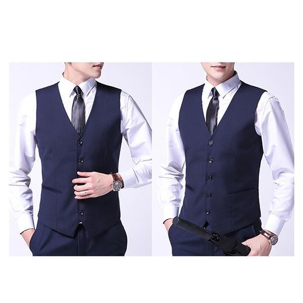ジレベスト フォーマルベスト メンズ 無地 前開き Vネック フォーマル ベスト スーツ ビジネス 男性 礼服 定番 格好いい 紳士的 結婚式 宴会 ドレス akanebeauty 05
