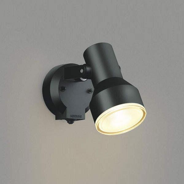 コイズミ照明 LEDエクステリアライトスポットライト 人感センサ付 LEDビームランプ150W相当 電球色 ブラック AU45239L
