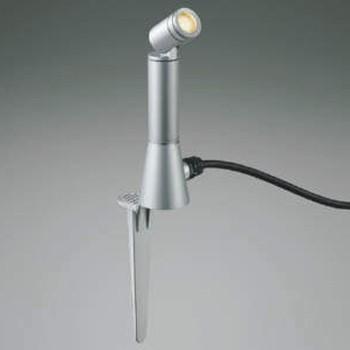 コイズミ照明 LEDスポットライト 白熱球60W相当 電球色 プラグ付 広角 シルバー AU47311L