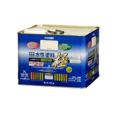 サンデーペイント 水性多目的塗料 つやあり 水性エコアクア 7L 常備色 【送料無料】-黒 akiba-paint-web