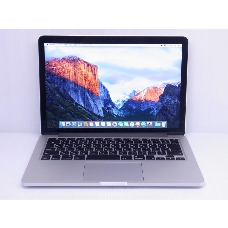 中古 ノートパソコン Apple MacBook Pro Retina 13inch Early 2015 MF839J/A Corei5-2700/8GB-MEM/128GBストレージ/13.3inch/MacOS10.11-ElCapitan