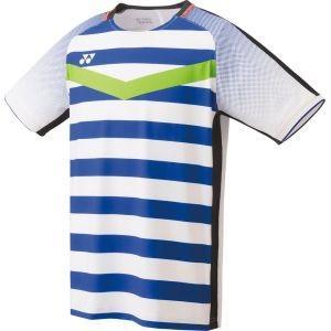 ヨネックス Yonex ゲームシャツ フィットスタイルメンズ ホワイト/ブルー S 10274