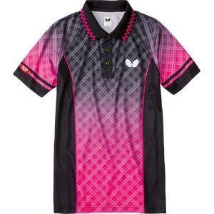 バタフライ Butterfly 男女兼用 卓球用ウェア フルコラル・シャツ ブラック S 45130
