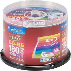 バーベイタム VBE130NP50SV1 BD-RE 25GB 50枚 2倍速 ブルーレイディスク 三菱 Verbatim|akibaoo