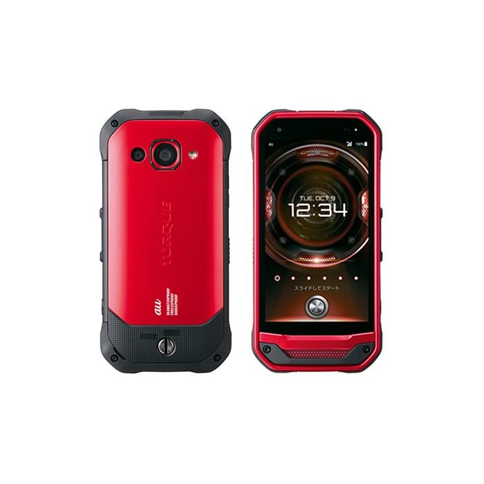 SIMフリー KYV41 TORQUE G03 au レッド [Red] KYOCERA 新品 未使用品 白ロム スマートフォン