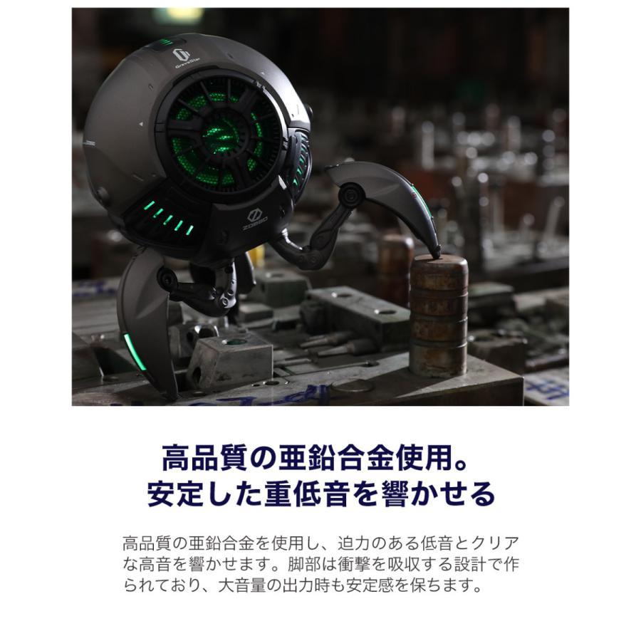 Gravastar G1 メタルグレー ポータブルワイヤレススピーカー 球体ロボット型スピーカー Bluetoothスピーカー akindoyamaru 05