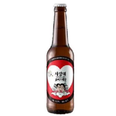 韓国ビール サランヘ ホワイトエール 330ml/24.yu ケース重量:約15.8kg akisa