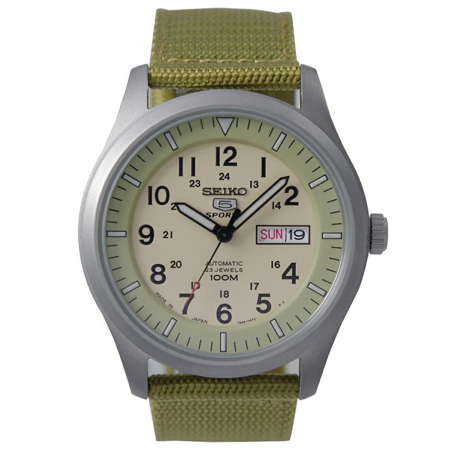 セイコー SEIKO 5 SPORTS【日本製】腕時計 海外モデル 自動巻き ミリタリー ベージュ SNZG07J1 メンズ [逆輸入品]|akky-international