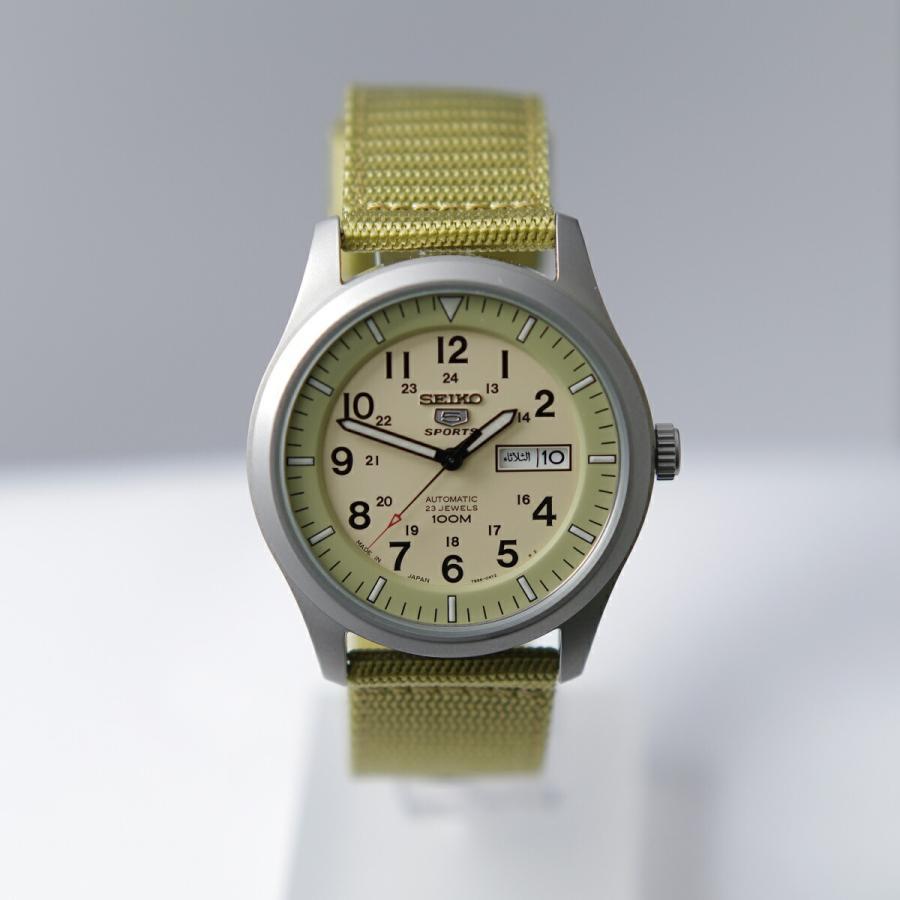 セイコー SEIKO 5 SPORTS【日本製】腕時計 海外モデル 自動巻き ミリタリー ベージュ SNZG07J1 メンズ [逆輸入品]|akky-international|02