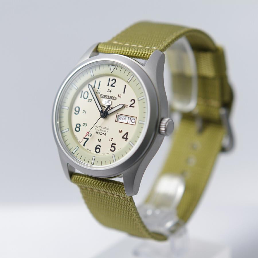 セイコー SEIKO 5 SPORTS【日本製】腕時計 海外モデル 自動巻き ミリタリー ベージュ SNZG07J1 メンズ [逆輸入品]|akky-international|03