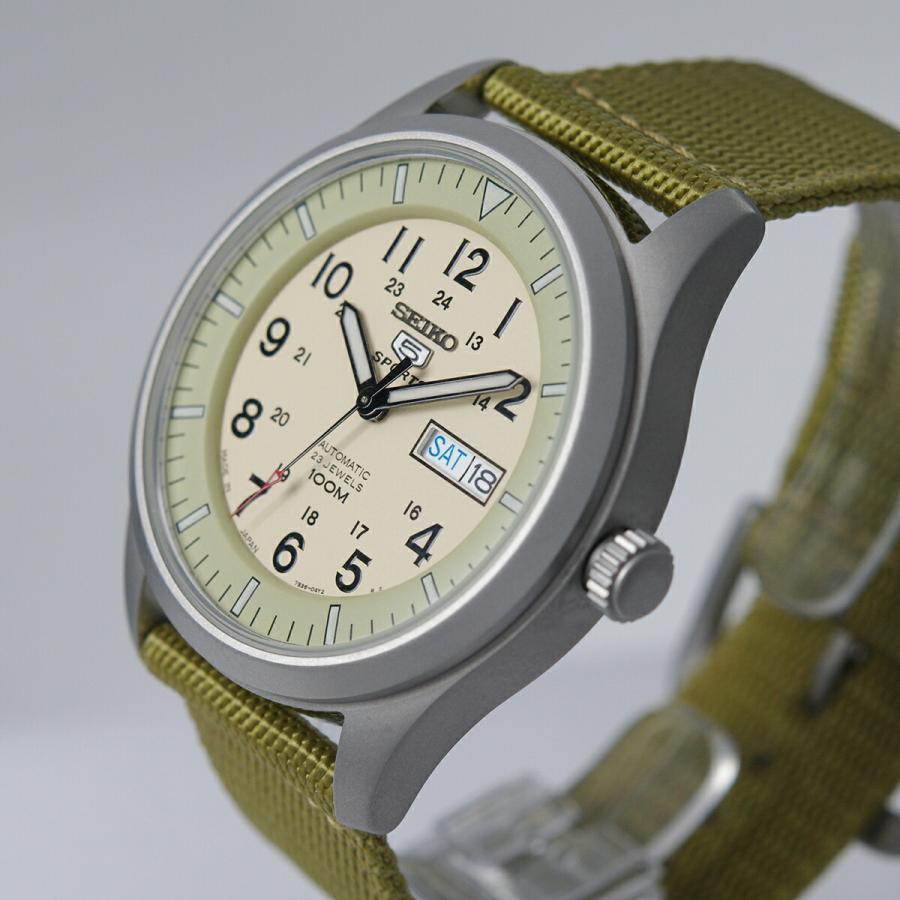 セイコー SEIKO 5 SPORTS【日本製】腕時計 海外モデル 自動巻き ミリタリー ベージュ SNZG07J1 メンズ [逆輸入品]|akky-international|04
