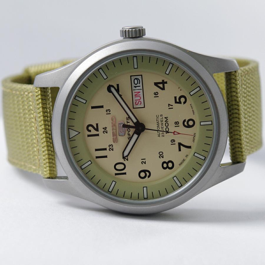 セイコー SEIKO 5 SPORTS【日本製】腕時計 海外モデル 自動巻き ミリタリー ベージュ SNZG07J1 メンズ [逆輸入品]|akky-international|07