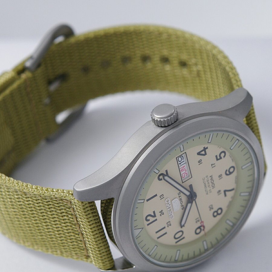 セイコー SEIKO 5 SPORTS【日本製】腕時計 海外モデル 自動巻き ミリタリー ベージュ SNZG07J1 メンズ [逆輸入品]|akky-international|08