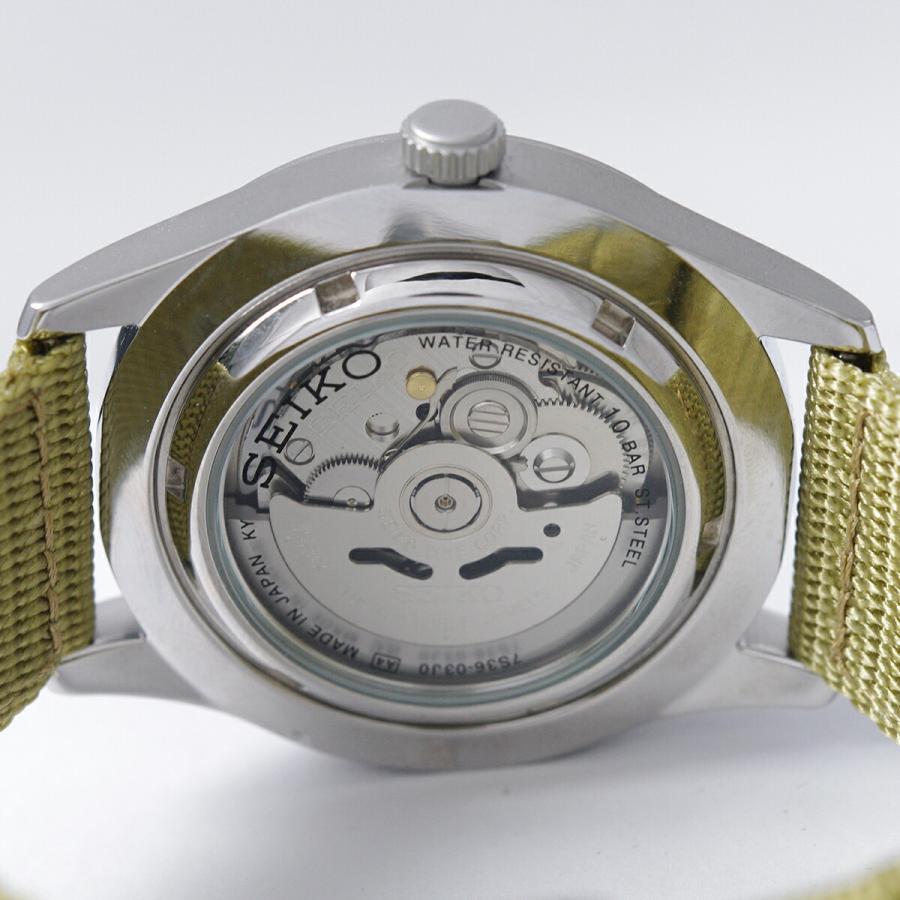 セイコー SEIKO 5 SPORTS【日本製】腕時計 海外モデル 自動巻き ミリタリー ベージュ SNZG07J1 メンズ [逆輸入品]|akky-international|09