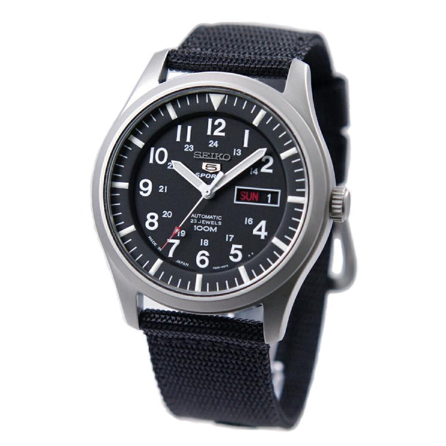 セイコー SEIKO 5 SPORTS【日本製】腕時計 海外モデル 自動巻き ミリタリー ブラック SNZG15J1 メンズ [逆輸入品]|akky-international